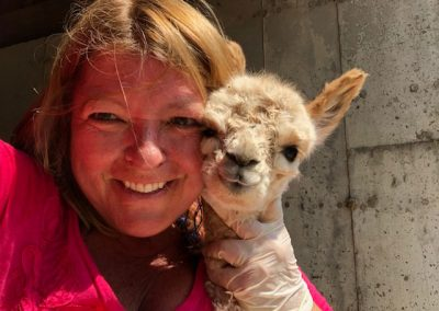 Mary Beth and Baby Alpaca